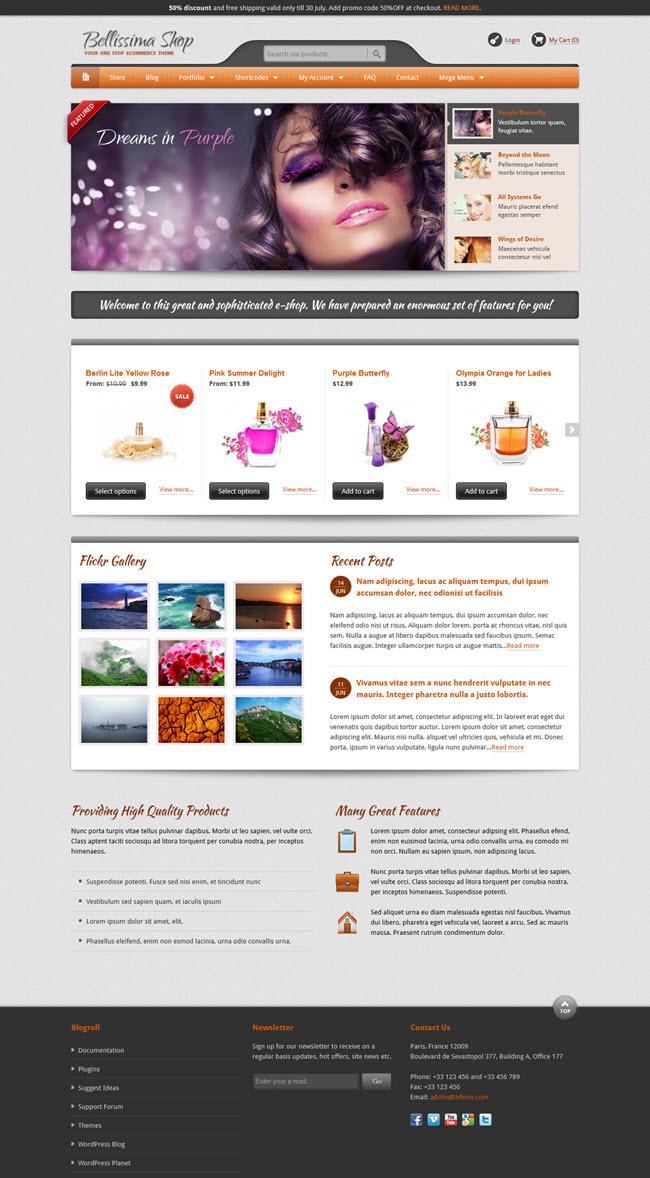 bellissima screenshot Best Stylish & Feminine WordPress Themes for Women