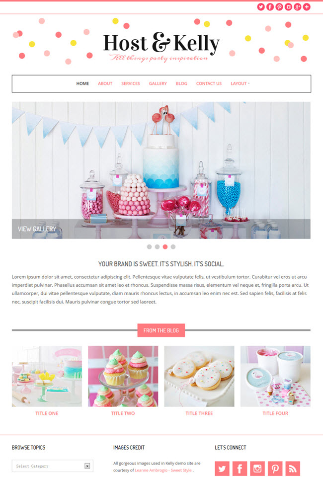 kelly screenshot Best Stylish & Feminine WordPress Themes for Women