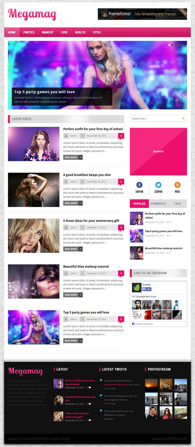 megamag girl screenshot Best Stylish & Feminine WordPress Themes for Women