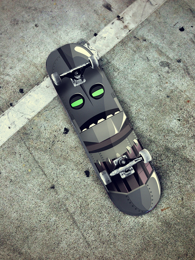 663 The Robot Skateboards