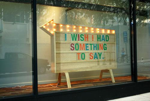I wish I had something to day