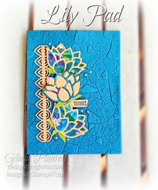"""Lovely Lily pad stamp set, lily pad dies, pretty peacock cardstock, soft suede cardstock, aqua painter, silicone craft mat, white embossing powder, versamark ink pad, heat tool, watercolor paper, crumb cake cardstock, tear n tape, 1"""" circle punch, simply scored, paper trimmer, Paper Snips, Take Your Pick Tool, Stampin' Sponges, White Chalk Marker, Stitched Rectangle Dies, sip & celebrate dies, Grid Paper, stampin sponge, perfectly plaid Stamp set, truck ride dies, shimmery crystal effects, braided linen ribbon, to every season stamp set, every season punch, gold foil paper, shaded spruce cardstock, cherry cobbler cardstock, wrapped in plaid 6 x 6 designer series paper, thick whisper acardstock, silicone craft mat, grid paper, gold delicata reinker, polka dot tulle ribbon, come to gather designer series paper, splitcoaststampers, come painters, blender pens, clear wink of stella, stampin' trimmer, very vanilla cardstock, sponge daubers,  dimensionals, paper snips, multipurpose liquid glue take your pick, SNAIL adhesive, stampin' up! Demonstrator, how to, diy handmade, homemade, rubber stamping, greeting card, crafts cardmaking  to gathered ribbon combo pack, Tags & More Accessory kit, every season punch pack, bronze delicata ink pad, black stampin dimensionals, detailed trio punch, basic black cardstock, old olive classic ink,  memento tuxedo black ink, black stazon ink, thick whisper white cardstock, whisper white cardstock,  stamparatus, aqua painters"""
