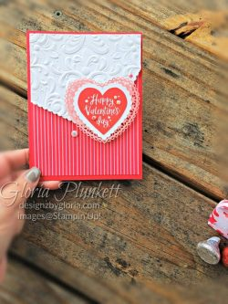 """Heartfelt stamp set, real red cardstock, flirty flaming cardstock, silicone craft mat, white embossing powder, versamark ink pad, heat tool, watercolor paper, crumb cake cardstock, tear n tape, 1"""" circle punch, simply scored, paper trimmer, Paper Snips, Take Your Pick Tool, Stampin' Sponges, White Chalk Marker, Stitched Rectangle Dies, sip & celebrate dies, Grid Paper, stampin sponge, perfectly plaid Stamp set, truck ride dies, shimmery crystal effects, braided linen ribbon, to every season stamp set, every season punch, gold foil paper, shaded spruce cardstock, cherry cobbler cardstock, wrapped in plaid 6 x 6 designer series paper, thick whisper cardstock, silicone craft mat, grid paper, polka dot tulle ribbon, come to gather designer series paper, splitcoaststampers, come painters, blender pens, clear wink of stella, stampin' trimmer, very vanilla cardstock, sponge daubers, dimensionals, paper snips, multipurpose liquid glue take your pick, SNAIL adhesive, stampin' up! Demonstrator, how to, diy handmade, homemade, rubber stamping, greeting card, crafts cardmaking to gathered ribbon combo pack, Tags & More Accessory kit, black stampin dimensionals, detailed trio punch, basic black cardstock, old olive classic ink, memento tuxedo black ink, black stazon ink, thick whisper white cardstock, whisper white cardstock, stamparatus, aqua painters"""