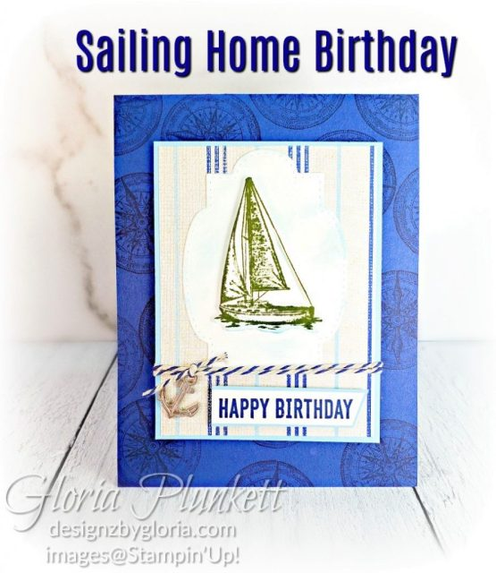 """Sailing home stamp set, come sail away designer series paper, sail away trinkets, smooth dailing dies, rectangle stitched framelits, 5/8"""" whisper white flax ribbon, real red rhinestones, silicone craft mat, white embossing powder, versamark ink pad, heat tool, watercolor paper, crumb cake cardstock, tear & tape, 1"""" circle punch, simply scored, paper trimmer, Paper Snips, Take Your Pick Tool, Stampin' Sponges, White Chalk Marker, Stitched Rectangle Dies, sip & celebrate dies, Grid Paper, stampin sponge, perfectly plaid Stamp set, truck ride dies, shimmery crystal effects, braided linen ribbon, to every season stamp set, every season punch, gold foil paper, shaded spruce cardstock, cherry cobbler cardstock, wrapped in plaid 6 x 6 designer series paper, thick whisper cardstock, silicone craft mat, grid paper, polka dot tulle ribbon, come to gather designer series paper, splitcoaststampers, come painters, blender pens, clear wink of stella, stampin' trimmer, very vanilla cardstock, sponge daubers,  dimensionals, paper snips, multipurpose liquid glue take your pick, SNAIL adhesive, stampin' up! Demonstrator, how to, diy handmade, homemade, rubber stamping, greeting card, crafts cardmaking  to gathered ribbon combo pack, Tags & More Accessory kit, black stampin dimensionals, detailed trio punch, basic black cardstock, old olive classic ink,  memento tuxedo black ink, black stazon ink, thick whisper white cardstock, whisper white cardstock,  stamparatus, aqua painters"""