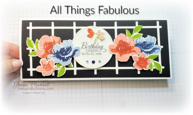 """All things fabulous stamp set, in good taste designer series paper, best plaid guilder dies, stitched rectangle dies, parcels & petals stamp set, hammered metal 3d embossing folder, peony dies, positive thoughts stamp set, layering square dies, Playful alphabet dies, Pampered pets stamp set, pet dies, whale builder punch, playful pets designer series paper, whale of a time dsp, 3/8"""" sheer ribbon, whale of a time sequins, Gold hoop embellishments, free as a bird stamp set, magenta madness cardstock, cinnamon cider cardstock, just jade cardstock, magenta madness cardstock, jar punch, ornate garden specialty designer series paper, itty bitty greetings, pear pizzazz cardstock, seaside spray cardstock, pressed petals specialty designer series paper, botanical prints product medley, detailed band dies, ornate layers dies, Ornate style stamp set, ornate garden specialty designer series paper, ornate layers dies, grapefruit grove cardstock, gold glitter enamel dots, coastal weave 3d embossing folder, basket weave embossing folder, a wish for everything stamp set, word wishes dies, ornate layers dies, ornate floral 3d embossing folder, ornate garden ribbon, ornate garden specialty designer series paper, best dressed 6"""" x 6"""" dsp, pear pizzazz classic ink, sponge daubers, peaceful moments stamp set, subtles embossing folder, rectangle stitched dies, saddle brown stazon ink, blushing bride cardstock, from my heart faceted gems, pear pizzazz classic ink, pleased as punch designer series paper, granny apple green cardstock, basic black cardstock, gorgeous grape cardstock, rococo rose light and dark stampin' blends, granny apple green dark and light stampin' blends, watercolor pencils, blender pen, petal pink cardstock, stitched so sweetly dies, rectangle stitched framelits, 5/8"""" whisper white flax ribbon, real red rhinestones, silicone craft mat, white embossing powder, versamark ink pad, heat tool, watercolor paper, crumb cake cardstock, tear & tape, 1"""" circle punch, simply scor"""