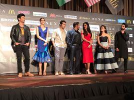Sushant Singh Rajput, Kriti Sanon, Varun Dhawan, Salman Khan, Katrina Kaif, Alia Bhatt, Shahid Kapoor at the IIFA New York Pres