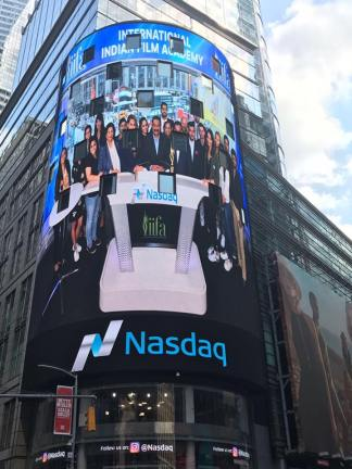 THE 18TH EDITION OF IIFA WEEKEND AND AWARDS RINGS IN The Nasdaq Stock Exchange Bell - LIVE AT TIMES SQUARE (1)