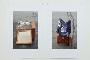 Extraits de la série «Se réserver un espace et partir », 2006-2009, photographie (impression au jet d'encre), dimensions variables (photo: Guy L'Heureux)