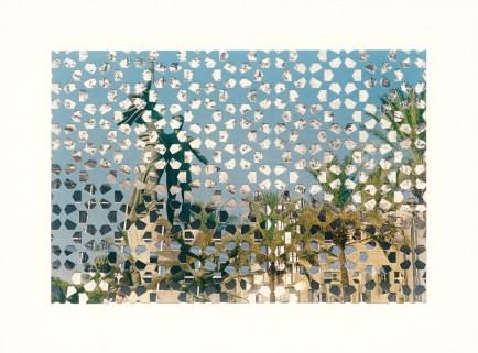 «Extrait #15», Cartes postales et petits formats - «Les agglomérations », 2001-2006, photographie (impression au jet d'encre) et carte postale découpée, 28 x 38 cm