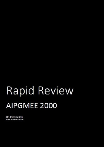 AIPGMEE 2000 Rapid Review cover