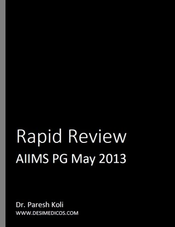 AIIMS PG May 2013 Rapid Review cover