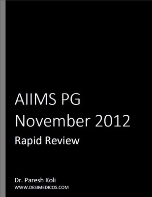 AIIMS PG Nov 2012 Rapid Review cover