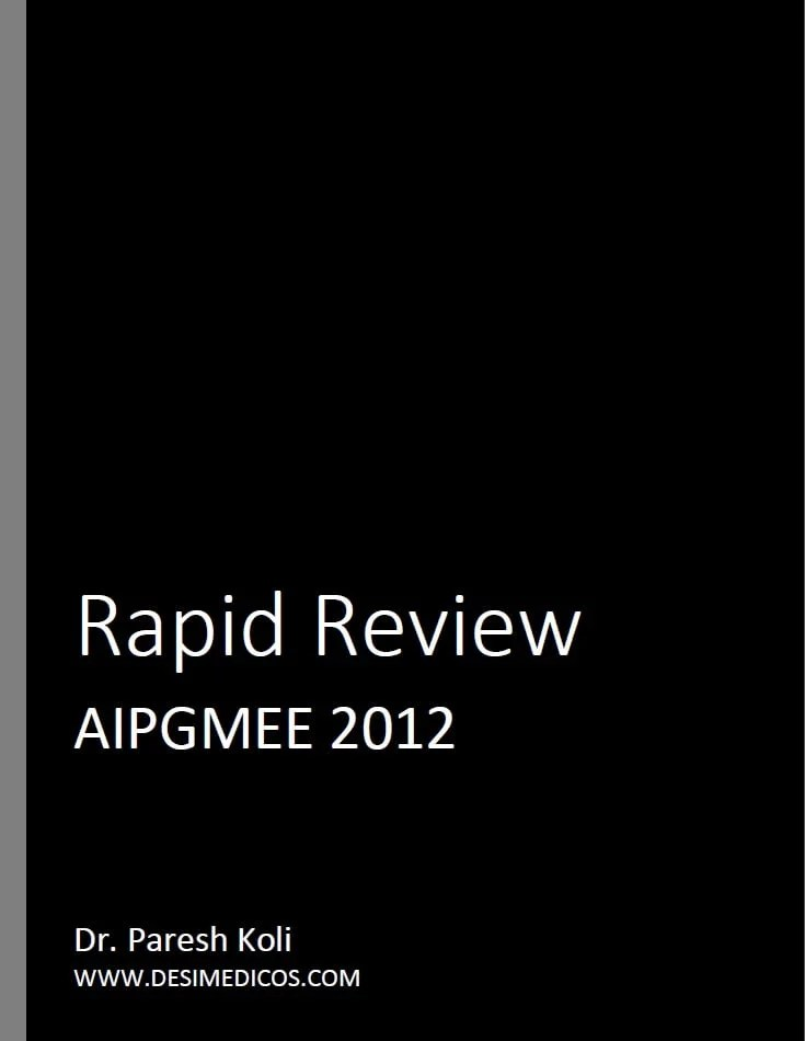 AIPGMEE 2012 Rapid Review cover