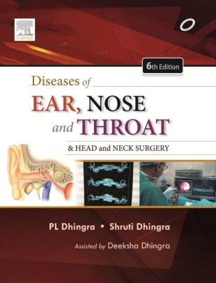 Diseases of Ear, Nose and Throat by P.L. Dhingra Cover