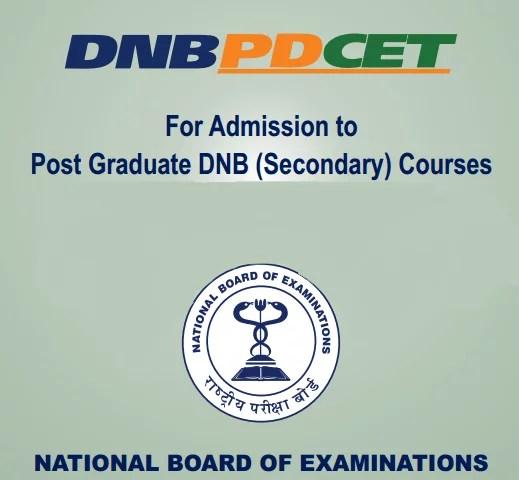 NBE DNB PDCET Logo