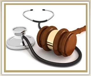 Healthcare-Law, stethoscope with hammer