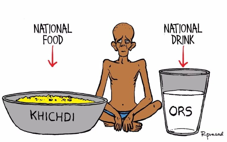 National Food is Khichdi and National Drink is ORS