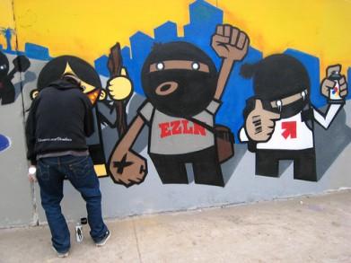 ya basta graffitti
