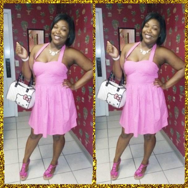 desire chanteuse pink polka dots dress 2