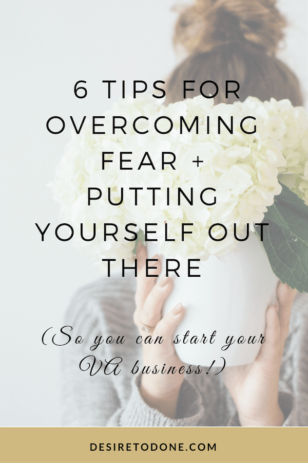 Every entrepreneur has to deal with the fear of putting themselves out there, especially in the early stages of their business. This fear is something you'll need to get familiar with if you want to grow your business, but it does get easier! Click to check out my tips for overcoming fear + putting yourself out there so that you can start your virtual assistant business.