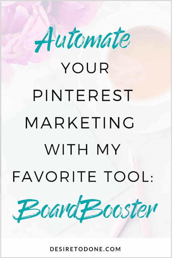 I'm all about automating tasks to make life (and business) simpler! Today I'm talking about one of my favorite Pinterest marketing tools, BoardBooster. Learn why you need it and why I love it!