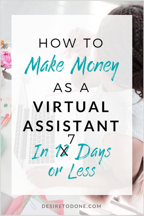 Starting a virtual assistant business doesn't have to be complicated or take forever to get started! Follow my 7 daily steps and you'll have your own VA business in a week! #virtualassistant #workfromhome #introvert
