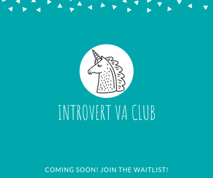 Join the first membership site for introverted virtual assistants! You'll find trainings and a wonderful community inside the Introvert VA Club to help you reach your goals.