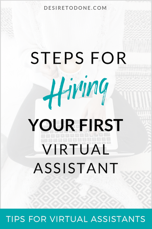 Hey there virtual assistant! Feeling overwhelmed in your own business? Sounds like it's time to hire your first virtual assistant! Here are some tips to make it easier and less scary. #virtualassistant #hireavirtualassistant