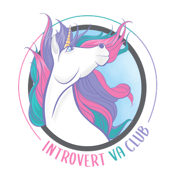 Logo design by Lauryn Pearce of Eclectivity Consulting - Introvert VA Club
