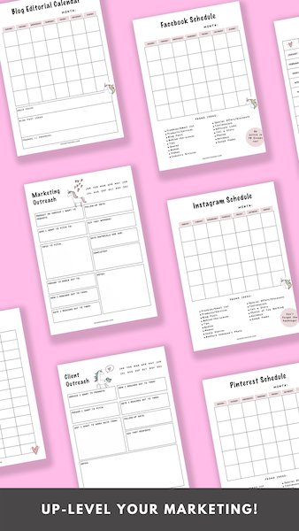 It's time to up-level your marketing efforts and get my eyes on your products and services! The Creative Boss Planner will help you do just that!