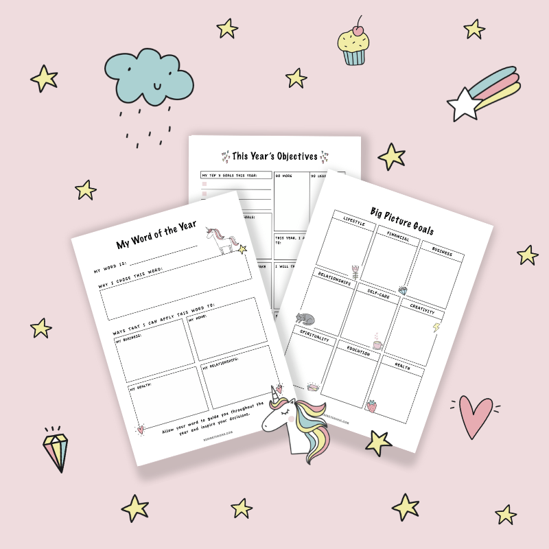 Grab 3 free goal planner sheets from The Creative Boss Planner