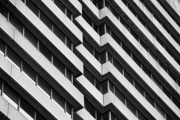 Facade of the Pinnacle Building, built in Leeds in 1972