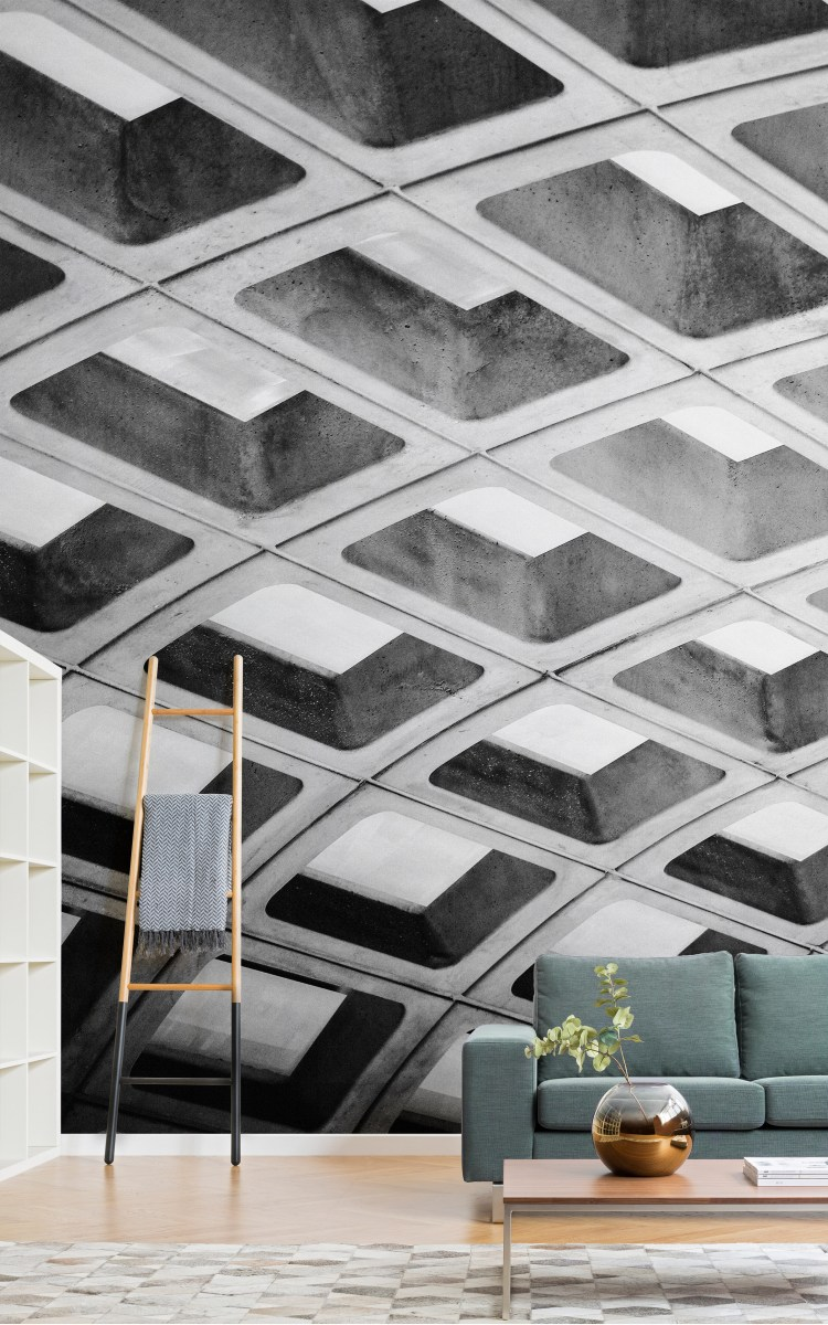 Brutalist Inspired Wallpaper Designs