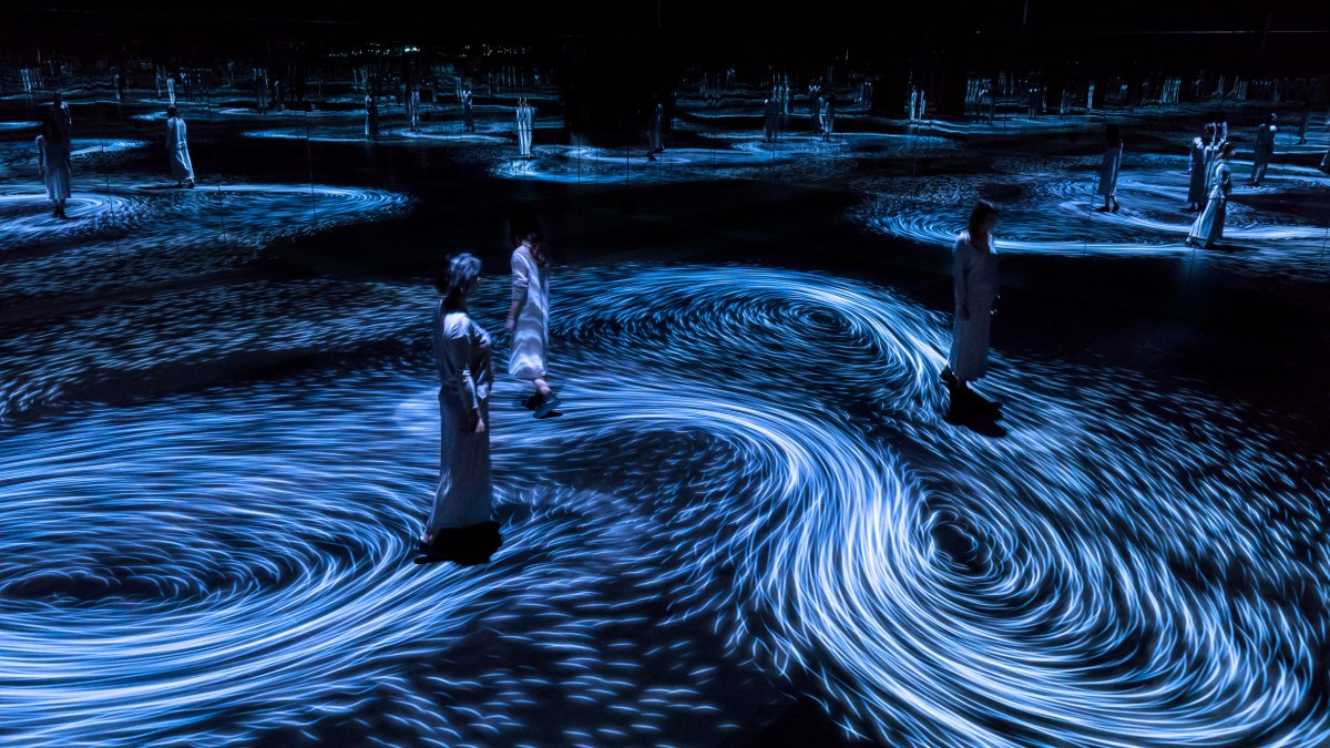 Virtual Whirlpool Exhibition by TeamLab