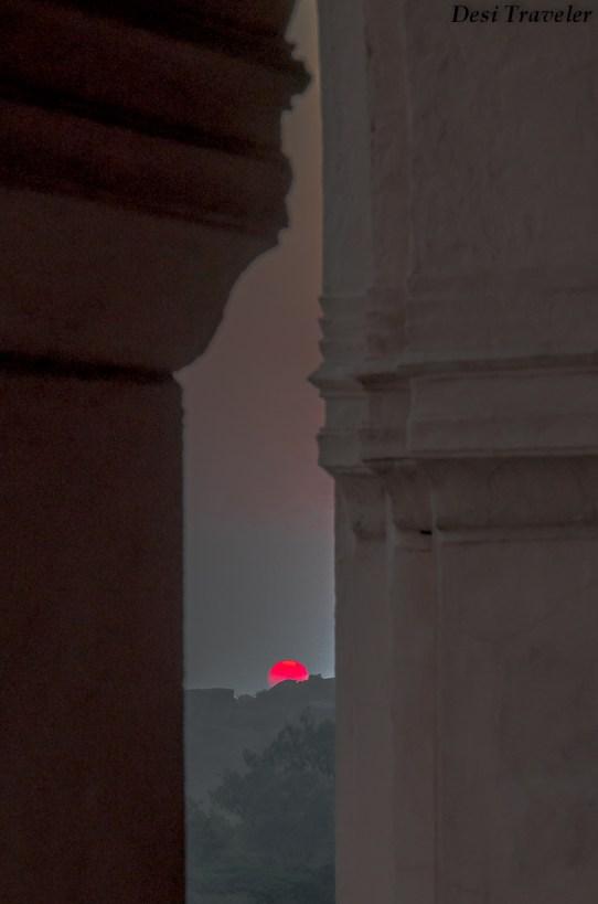 Sunset At Taramati Baradari Hyderabad