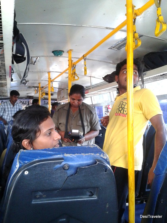 Lady conductor on the apsrtc bus to Mahbubnagar