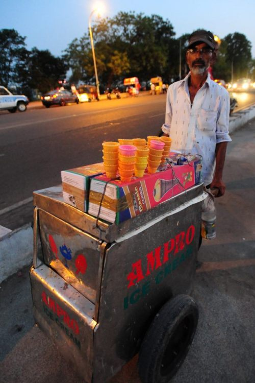 Ice Cream Vendor at Tank Bund