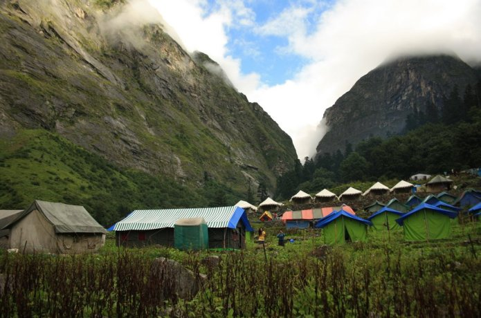 Campsite near Valley of Flowers