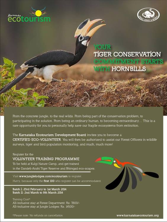 Eco volunteer training program Tiger Census