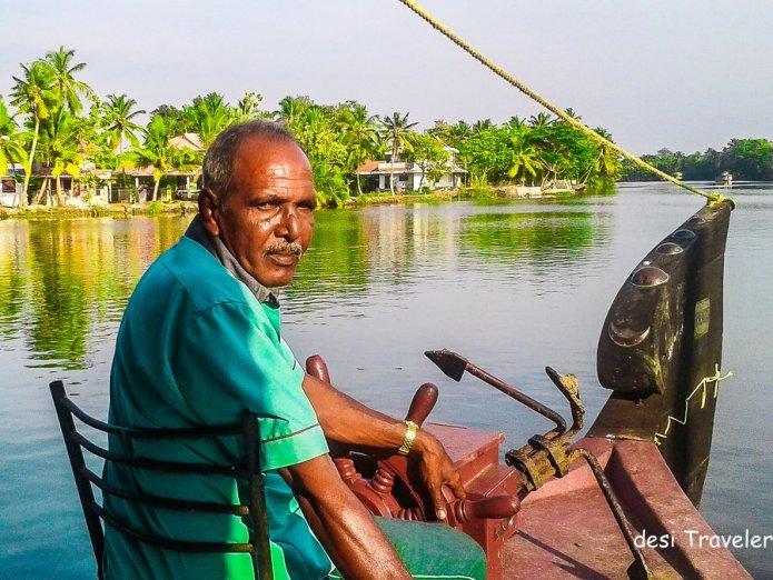 Captain of Houseboat in Alleppey backwaters Kerala