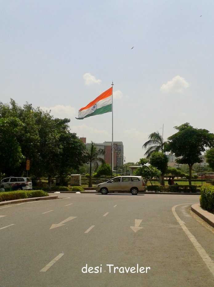 Largest tricolor national flag India Central Park Connaught Place Delhi
