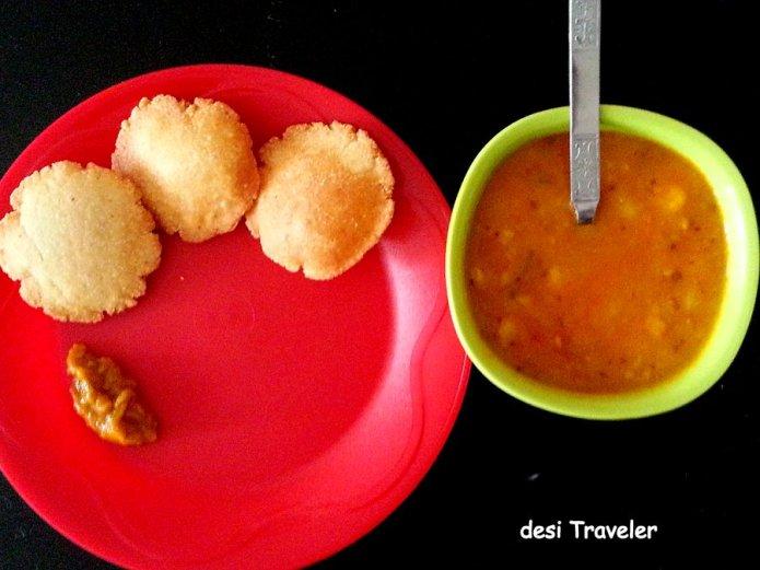 Nagori Aloo subzi breakfast india