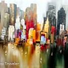 Skyscrapers in paintings