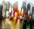 Skyscrapers in paintings