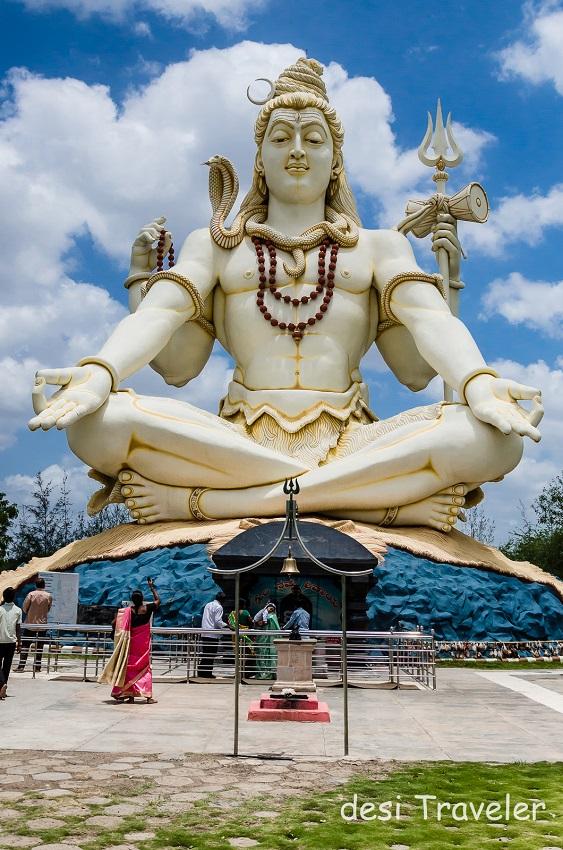85 feet tall Shiva Idol Bijapur Shivagiri