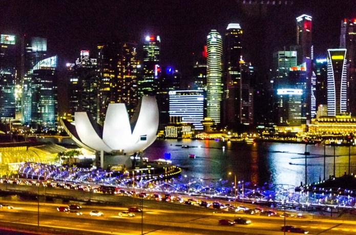 Singapore in night