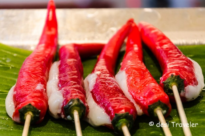 Chillies on stick singapore street food