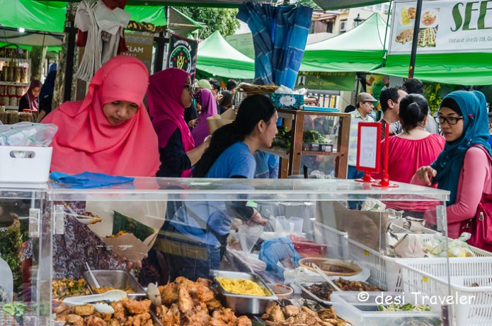 girls at a stall Ramadan Food festival singapore