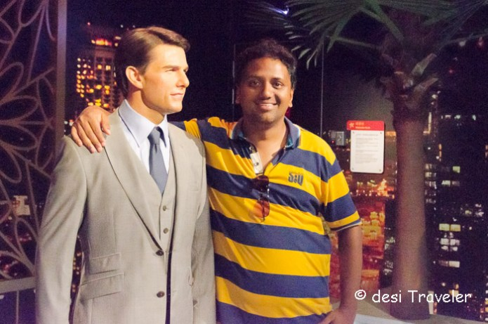 Tom Cruise with Hrish Thota Madam Tussauds singapore