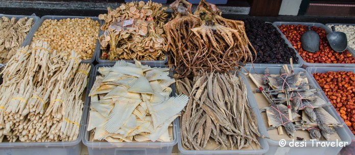 octopus, dried flying lizard Chinese medicine for sale in Singapore